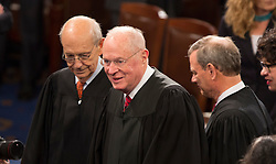United States Supreme Court Associate Justices Stephen G. Breyer (left) and Anthony Kennedy (center) arrive to listen to U.S. President Donald J. Trump address a joint session of Congress on Capitol Hill in Washington, DC, USA, February 28, 2017. Photo by Chris Kleponis/CNP/ABACAPRESS.COM
