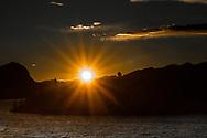 VILDMARKSVÄGEN JULI 2020<br /> Solnedgång över Marsfjällen med utsikt från vårt fönster på Saxnäsgården under helgens tur efter Vildmarksvägen.<br /> Foto: Per Danielsson/Projekt.P