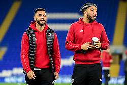 Andre Gray of Watford and Troy Deeney of Watford arrives at Cardiff City Stadium prior to kick off - Mandatory by-line: Ryan Hiscott/JMP - 22/02/2019 -  FOOTBALL - Cardiff City Stadium - Cardiff, Wales -  Cardiff City v Watford - Premier League