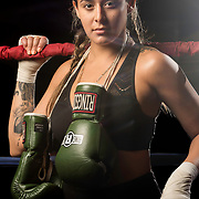 Photoshoot with Jessica Rangel at Grampas Boxing Gym in Westminster, California on April 28, 2017.  ©Michael Der