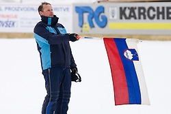 Slovenian flag at Opening ceremony during Flying Hill Individual Qualifications at 1st day of FIS Ski Flying World Championships Planica 2010, on March 18, 2010, Planica, Slovenia.  (Photo by Vid Ponikvar / Sportida)