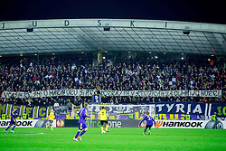 Viole, Supporters of Maribor during football match between NK Maribor and Sevilla FC (ESP) in 1st Leg of Round of 32 of UEFA Europa League 2014 on February 20, 2014 at Stadium Ljudski vrt, Maribor, Slovenia. Photo by Vid Ponikvar / Sportida