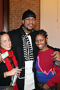 l to r: Noelle Theard, Akintola Haniff and Shantrell P.Lewis at Artist talk of ' Shoot-Out: Lonely Crusade..An Homage to Jamel Shabazz ' held at The George and Leah McKenna African American Museum of Art on December 12, 2008 in New Orleans, Louisana