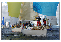 The third days racing at the Bell Lawrie Yachting Series in Tarbert Loch Fyne ..Perfect conditions finally arrived for competitors on the three race courses...GBR8930T Shadowfax from Oban SC a First 31.7..