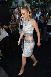 Lily Rose Depp arriving at the Vogue Party hosted during the Haute Couture Fashion Week in Paris, France on July 3rd, 2018. Photo by Clement Prioli/ABACAPRESS.COM