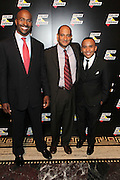 New York, NY-October 5:  (L-R) On-Air Personality Van Jones, Co-founder, Color of Change, James Rucker, Co-founder Color of Change and Rashad Robinson, Executive Director, Color of Change attend the ColorOfChange.org's 10th Anniversary Gala held at Gotham Hall on October 5, 2015 in New York City.  Terrence Jennings/terrencejennings.com