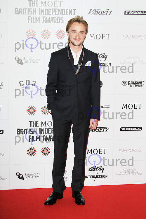 LONDON - DECEMBER 09: Tom Felton attended The British Independent Film Awards at the Old Billingsgate Market, London, UK. December 09, 2012. (Photo by Richard Goldschmidt)