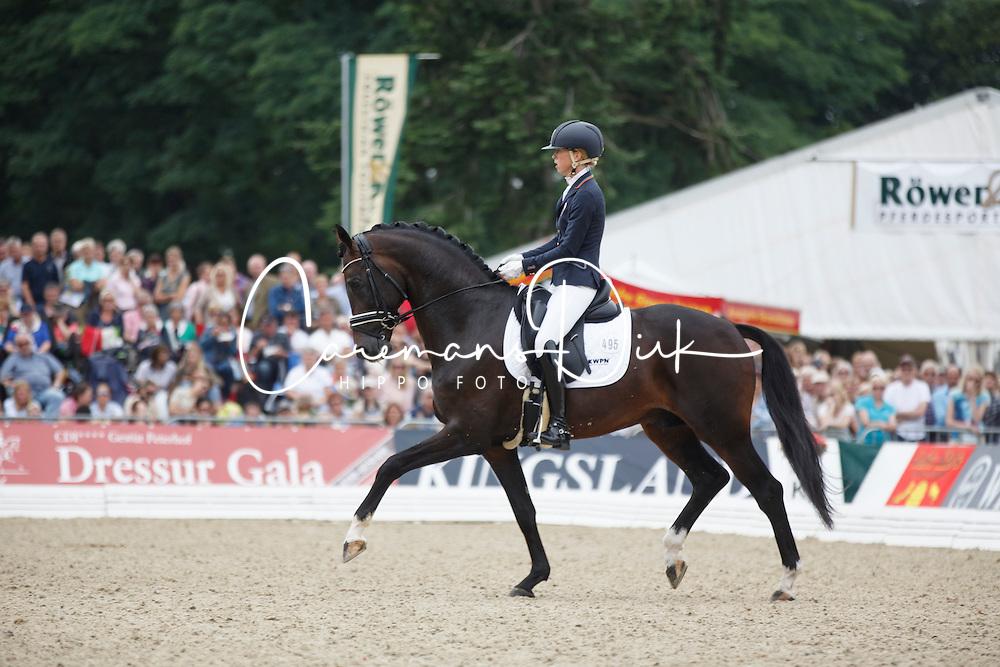 Brouwer Kirsten, (NED), Ferdeaux<br /> Final 5 years old horses<br /> World Championship Young Dressage Horses - Verden 2015<br /> © Hippo Foto - Dirk Caremans<br /> 08/08/15