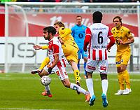 Fotball<br /> Tippeliga 2016<br /> Tromsø IL vs Bodø/Glimt 16.05.2016<br /> Christian Landu Landu, TromsøSofiane Moussa, TromsøAnders Karlsen, Bodø/Glimt<br /> <br /> Foto: Tom Benjaminsen / Digitalsport