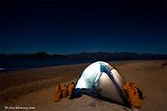 Campsite on Isla Carmen during sea kayak trip in the Gulf of California near Loreto Mexico