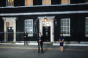 David Cameron (C) and his wife Samantha Cameron (R) speak to the assembled  media in Downing Street on 11th May 2010 moments after David Cameron becomes Britain's youngest Prime Minister in 200 years. © under license to London News Pictures..