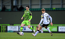 Tom Conlon of Port Vale competes with Jordan Moore-Taylor of Forest Green Rovers- Mandatory by-line: Nizaam Jones/JMP - 16/01/2021 - FOOTBALL - innocent New Lawn Stadium - Nailsworth, England - Forest Green Rovers v Port Vale - Sky Bet League Two