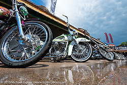 Broken Spoke area of the Sturgis Iron Horse Saloon during the Sturgis Black Hills Motorcycle Rally. Sturgis, SD, USA. Sunday, August 4, 2019. Photography ©2019 Michael Lichter.