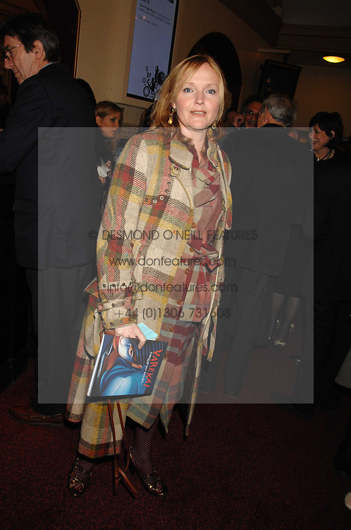 MIRANDA RICHARDSON at the gala night of Varekai by Cirque du Soleil at The Royal Albert Hall, London on 8th January 2008.<br /><br />NON EXCLUSIVE - WORLD RIGHTS