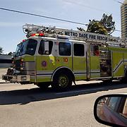 Vakantie Miami Amerika, brandweerwagen