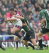 Reading, Berkshire, 10th May 2003,  [Mandatory Credit; Peter Spurrier/Intersport Images], Zurich Premiership Rugby, David Rees, breaking though midfield,