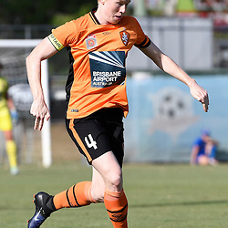 BRISBANE, AUSTRALIA - JANUARY 1: Clare Polkinghorne of the Roar dribbles the ball during the round 10 Westfield W-League match between the Brisbane Roar and Melbourne Victory at AJ Kelly Park on January 1, 2017 in Brisbane, Australia. (Photo by Patrick Kearney/Brisbane Roar)