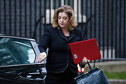 © Licensed to London News Pictures. 09/01/2018. London, UK. Secretary of State for International Development Penny Mordaunt arrives on Downing Street for the first meeting of the Cabinet after Prime Minister Theresa May's reshuffle. Photo credit: Rob Pinney/LNP