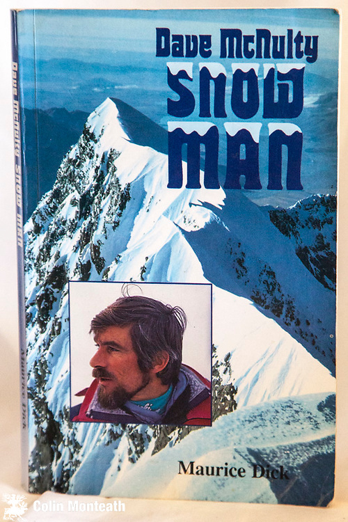 DAVE McNULTY - SNOW MAN, - author & publisher Maurice Dick, 1992, 164 page softbound, biography of New Zealand mountain guide Dave McNulty who started New Zealand Avalanche Institute - $NZ65