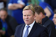 Everton Manager Ronald Koeman looks on prior to kick off. Premier league match, Everton v Middlesbrough at Goodison Park in Liverpool, Merseyside on Saturday 17th September 2016.<br /> pic by Chris Stading, Andrew Orchard sports photography.