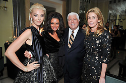 Left to right, TAMARA BECKWITH, RENI SINDI, DENNIS BASSO and SERENA BOARDMAN at a dinner in honour of Dennis Basso in celebration of his new boutique in Harrods held at Claridge's, Brook Street, London on 15th October 2009.