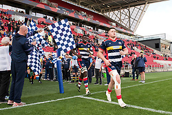 Jack Cosgrove and Ehize Ehizode of Bristol Rugby run out at Ashton Gate Stadium  - Mandatory by-line: Paul Knight/JMP - 22/10/2017 - RUGBY - Ashton Gate Stadium - Bristol, England - Bristol Rugby v Doncaster Knights - B&I Cup