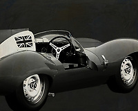 Jaguar Type D 1956 <br /> Like its predecessor Jaguar C-Type, the Jaguar D-Type is a factory-built racing car. The Jaguar D-Type had a straight-XK engine design. At the beginning it was a 3.4 engine, later also a 3.8, together with the C-Type a revolutionary car in terms of aerodynamics and monocoque chassis. The D-Type was produced purely for motorsport, but after Jaguar stopped building the car for motorsport, the company offered the unfinished chassis as the public-road version of the JaguarXKSS. These cars were given a number of modifications such as a passenger seat, a second door, a full windscreen and a roof. But on 12 February 1957 a fire broke out on Browns Lane plant. The fire destroyed nine of 25 cars that were already finished or almost finished. – -<br /> <br /> BUY THIS PRINT AT<br /> <br /> FINE ART AMERICA<br /> ENGLISH<br /> https://janke.pixels.com/featured/1-jaguar-type-d-1956-b-w-jan-keteleer.html<br /> <br /> WADM / OH MY PRINTS<br /> DUTCH / FRENCH / GERMAN<br /> https://www.werkaandemuur.nl/nl/shopwerk/Jaguar-Type-D-1956-B-amp-W-open-deur/571934/132