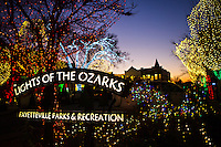 FAYETTEVILLE, ARKANSAS:  photography around Fayetteville Arkansas of the University of Arkansas, Old Main on the Campus of the U of A and the Lights of the Ozarks display on the Square in downtown Fayetteville.FAYETTEVILLE, ARKANSAS:  photography around Fayetteville Arkansas of the University of Arkansas, Old Main on the Campus of the U of A and the Lights of the Ozarks display on the Square in downtown Fayetteville.
