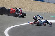 #63 Francesco Bagnaia, Italian: Alma Pramac Racing Ducati falls on turn 2 during the MotoGP Gran Premio Red Bull de Espana at Circuito de velocidad de Jerez, Jerez De La Frontera, Spain on 4 May 2019.