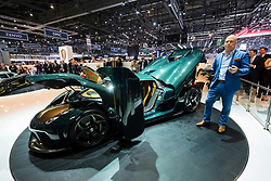 Christian Van Koenigsegg at press conference introducing world premiere of Regera super car at Geneva International Motor Show 2017
