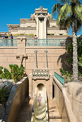 Leap of Faith waterslide at Aquaventure water park at the Atlantis Hotel on The Palm island in Dubai United Arab Emirates