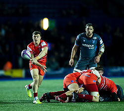 Harry Simmons of Leicester Tigers<br /> <br /> Photographer Simon King/Replay Images<br /> <br /> European Rugby Challenge Cup Round 2 - Cardiff Blues v Leicester Tigers - Saturday 23rd November 2019 - Cardiff Arms Park - Cardiff<br /> <br /> World Copyright © Replay Images . All rights reserved. info@replayimages.co.uk - http://replayimages.co.uk