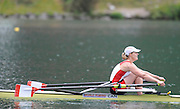 Bled, SLOVENIA,  CAN  M1X, Semi finals, Isolda PENNEY, competing iin the semi final, women's single sculls at the  FISA World Cup, Bled. Held on Lake Bled.  Saturday  29/05/2010  [Mandatory Credit Peter Spurrier/ Intersport Images].Crew