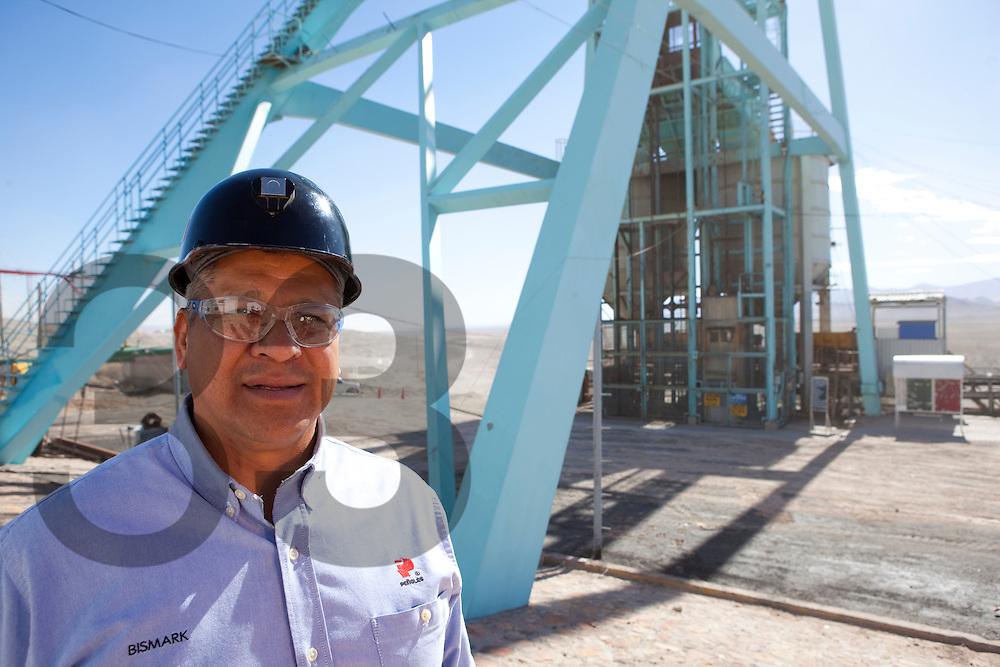 Cruz Saucedo. Minera Bismark, Chihuahua, Mexico. La mina se encuentra en el municipio de Ascención..Parte de Peñoles