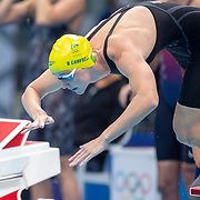 TOKYO, JAPAN - JULY 25: Bronte Campbell of Australia leads off the Australian team in the 4 x 100m Freestyle Relay for women during  their gold medal world record performance during the Swimming Finals at the Tokyo Aquatic Centre at the Tokyo 2020 Summer Olympic Games on July 25, 2021 in Tokyo, Japan. (Photo by Tim Clayton/Corbis via Getty Images)