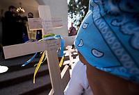 Bialystok, 14.08.2018 Z parafii sw Eljasza wyruszyla XXXIII Piesza Pielgrzymka na Swieta Gore Grabarke . Jest to najwieksza prawoslawna pielgrzymka w Polsce, ktora dotrze na miejsce na Swieto Przemienienia Panskiego jedno z najwazniejszych swiat prawoslawnych N/z pielgrzymi z krzyzami wotywnymi  fot Michal Kosc / AGENCJA WSCHOD