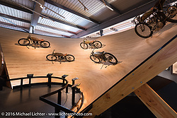 Boardtrack racing display at the Harley-Davidson Museum during the Milwaukee Rally. Milwaukee, WI, USA. Saturday, September 3, 2016. Photography ©2016 Michael Lichter.