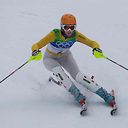 Winter Olympics, Vancouver, 2010. Susanne Riesch, Germany,  in action in the Alpine Skiing Ladies Slalom at Whistler Creekside, Whistler, during the Vancouver Winter Olympics. 24th February 2010. Photo Tim Clayton