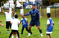 Bristol Sport and Bristol Energy launch their partnership at Millpond School with help from Siale Piutau of Bristol Rugby- Mandatory by-line: Robbie Stephenson/JMP - 09/10/2017 - SPORT - Millpond School - Bristol, England - Bristol Sport and Bristol Energy Partnership Launch