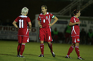 2011 FIFA Women's World Cup Qualifying match, Wales v Czech Republic at Stebonheath Park, Llanelli on Wed 23rd September 2009. pic by Andrew Orchard..Jayne Ludlow of Wales (8)