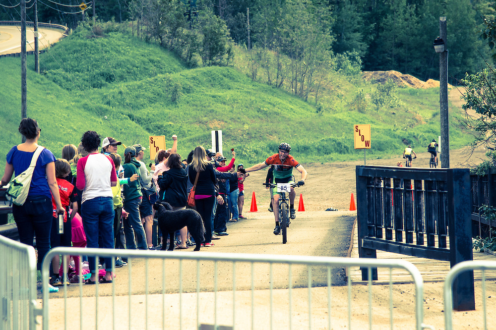Cross Country mountain bike race during the Marquette Trails Festival in Marquette, Michigan.