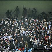 Besiktas's supporters during their Turkey Cup matchday 3 soccer match Besiktas between Gaziantepspor BSB at the Inonu stadium in Istanbul Turkey on Wednesday 11 January 2012. Photo by TURKPIX