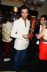 MARK-FRANCIS VANDELLI at a private view of 'Psycho Nacirema' at Pace Gallery, 6-10 Lexington Street followed by a party at The Playboy Club, Old Park Lane, London on 5th June 2013.