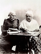 Susan B. Anthony and Elizabeth Cady Stanton 1899. Two pioneers in the Equal Rights cause.