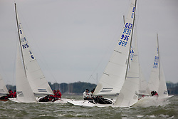 Medemblik, the Netherlands, September 6th 2009. Gaastra Dragon worlds 2009. first day of racing, first race. © Sander van der Borch