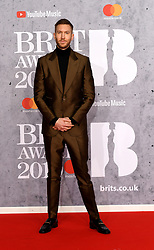 February 21, 2019 - London, London, United Kingdom - Image licensed to i-Images Picture Agency. 20/02/2019. London, United Kingdom. Calvin Harris at the Brit Awards in London. (Credit Image: © i-Images via ZUMA Press)