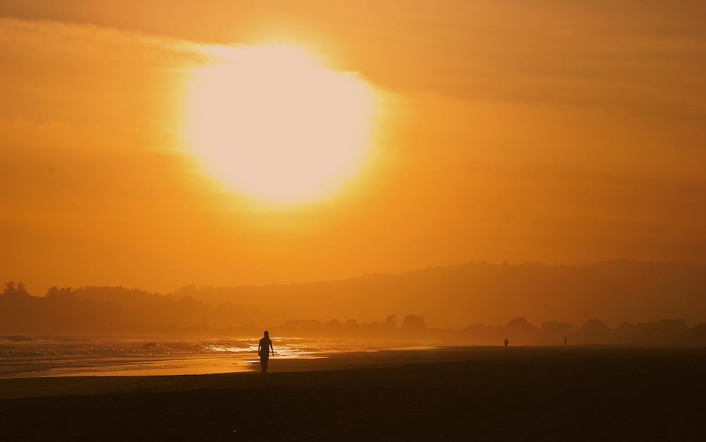 stinson beach california sunset