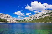 Tenaya Lake under Tenaya Peak, Tuolumne Meadows area, Yosemite National Park, California