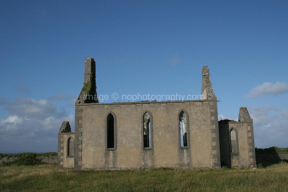ruins on the Aran Islands County Galway Ireland