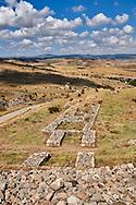 Royal Palace, Hattusa (also Ḫattuša or Hattusas) late Anatolian Bronze Age capital of the Hittite Empire. Hittite archaeological site and ruins, Boğazkale, Turkey.